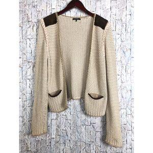 Tart Sweater Open Cardigan with chain Trim